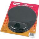 Коврик для мышки Buro BU-GEL с валиком черный