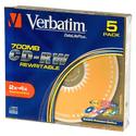 Диск Verbatim CD-RW 700МБ 8-12x Colour 43167