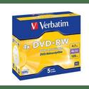 Диск Verbatim DVDRW 47ГБ 4x Matt Silver 43229
