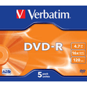 Диск Verbatim DVD-R 47ГБ 16x Matt Silver 43519