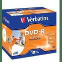Диск Verbatim DVD-R 47ГБ 16x Wide Inkjet Printable ID Brand 43521