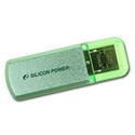 USB Flash накопитель Silicon Power 16ГБ Helios 101 SP016GBUF2101V1N зеленый USB20