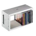Аксессуар Подставка Hama H-48402 CD-Rack для СD 20шт пластик серебристый