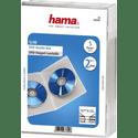 Бокс CD Коробка Hama H-83892 для 2 DVD Slim 5 шт прозрачный