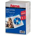 Бокс CD Коробка Hama H-83895 Jewel Case для DVD 5 шт пластик прозрачный