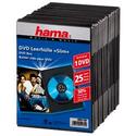 Бокс CD Коробка Hama H-51182 Slim для DVD 25 шт пластик черный