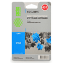 Картридж Cactus CS-CLI451C голубой