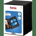 Бокс CD Hama H-51276 Jewel Case для DVD 10 шт пластик черный