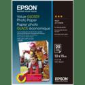 Фотобумага Epson Value Glossy C13S400037 глянцевая 10х15 см 20 листов 183 гм2