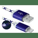 Кабель Defender USB  Lightning 8-pin 1m голубой ACH03-03LT 87551