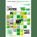 Карта памяти Mirex 16ГБ microSD HC UHS-I Class10 13612-MC10SD16