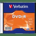 Диск Verbatim DVD-R 47ГБ 16x Matt Silver 43547 Slim 1 шт