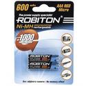 Аккумулятор Robiton AAA 600 mAh уп 2 шт