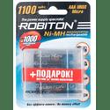 Аккумулятор Robiton AAA 1100 mAh уп 4 шт  футляр