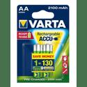 Аккумулятор VARTA 2100 mAh AA 2 штуп