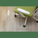 Аксессуар Бюрократ Коврик напольный 1084543 прямоугольный глянцевый для паркеталамината полипропилен 120х90см