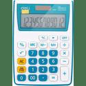 Калькулятор Deli E1122BLUE синий 12-разр
