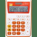Калькулятор Deli E1122OR оранжевый 12-разр