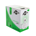 Кабель Atcom UTP 5e кат 4 пары однож 24AWG омедненный алюминий 305м серый