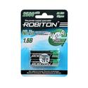 Аккумулятор Robiton LR6 AA 2500 mWh 1500 mAh Ni-Zn 16V уп 2 шт