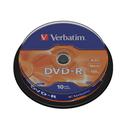 Диск Verbatim DVD-R 47ГБ 16x 43523