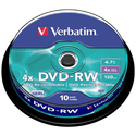 Диск Verbatim DVD-RW 47ГБ 4x 43552