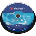 Диск Verbatim CD-R 700МБ 52x 43437